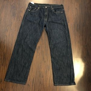 Levi's 569 jeans dark wash relaxed straight leg